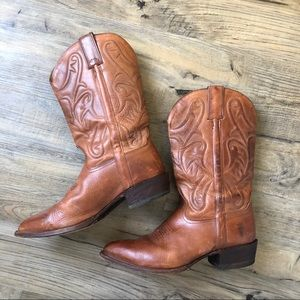 Frye Cowboy Boots Classic Brown Point Western 10